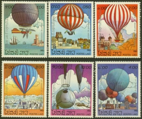 balloons-on-stamps-Lao