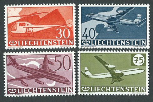 liechtenstein-aircraft-set-of-4-1960