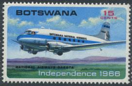 botswana-plane-1966-issue